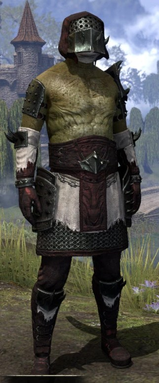 Crimson Oath Medium - Argonian Male Front