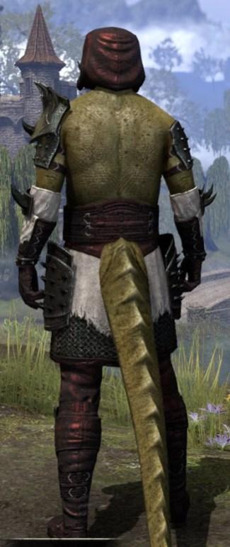 Crimson Oath Medium - Argonian Male Rear