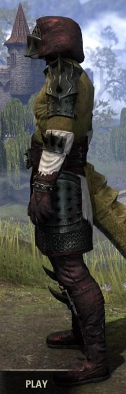 Crimson Oath Medium - Argonian Male Side
