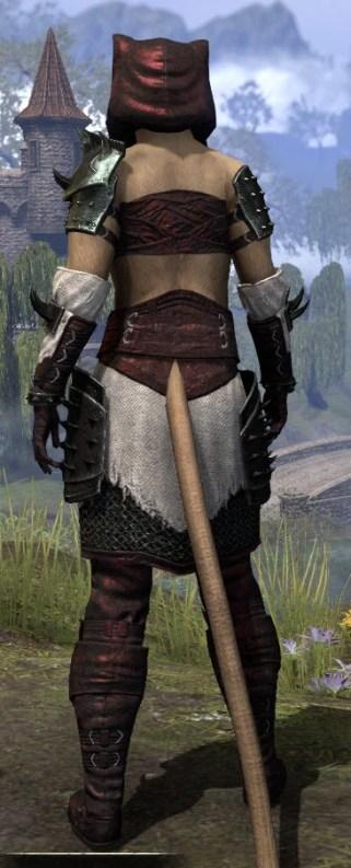 Crimson Oath Medium - Khajiit Female Rear