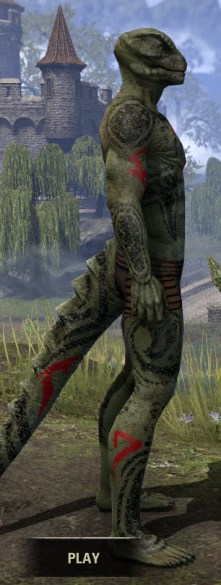 Shattered Chivalry Body Tattoo - Argonian Male Right