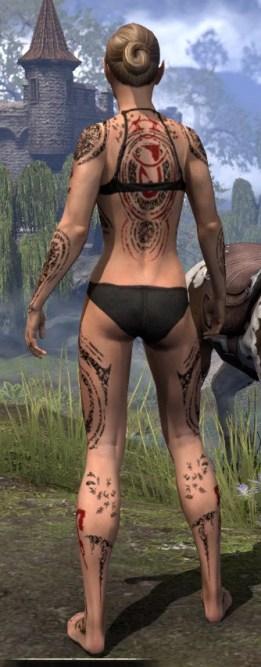 Shattered Chivalry Body Tattoo - Female Rear