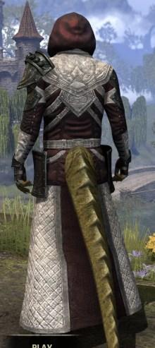 Silver Rose Light - Argonian Male Robe Rear