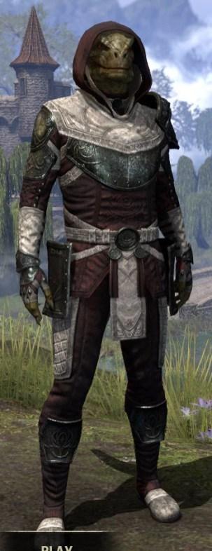 Silver Rose Light - Argonian Male Shirt Front