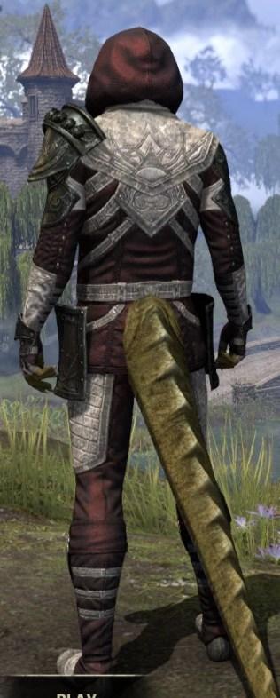 Silver Rose Light - Argonian Male Shirt Rear