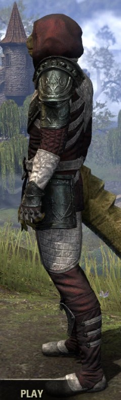 Silver Rose Light - Argonian Male Shirt Side