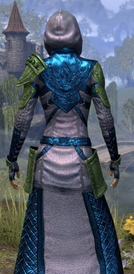 Silver Rose Light - Dyed Robe Close Rear