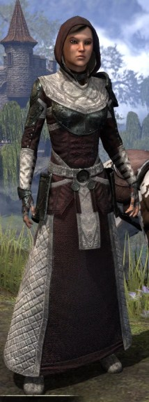 Silver Rose Light - Female Robe Front