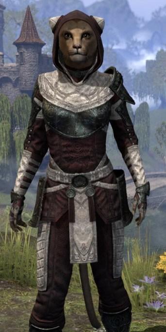 Silver Rose Light - Khajiit Female Shirt Close Front