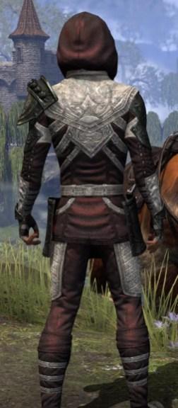 Silver Rose Light - Male Shirt Close Rear