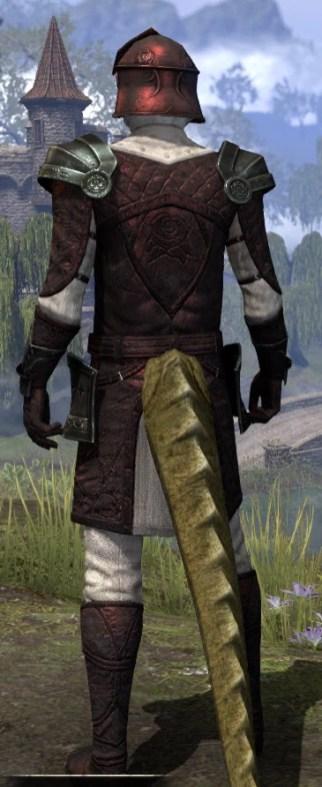 Silver Rose Medium - Argonian Male Rear