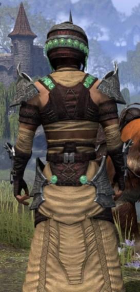 Sul-Xan Ancestor Silk - Male Robe Close Rear