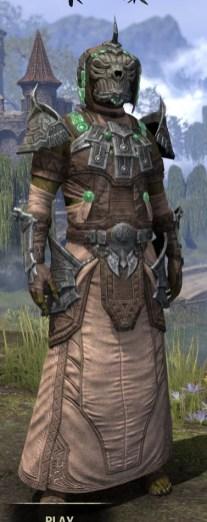 Sul Xan Homespun - Argonian Male Robe Front