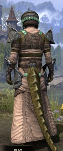 Sul Xan Homespun - Argonian Male Robe Rear