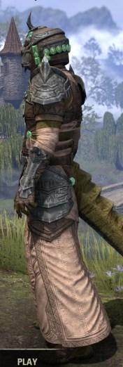 Sul Xan Homespun - Argonian Male Robe Side