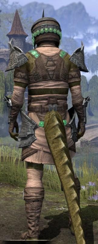 Sul Xan Homespun - Argonian Male Shirt Rear