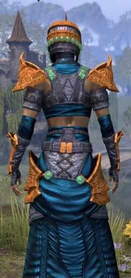 Sul Xan Homespun - Dyed Robe Close Rear
