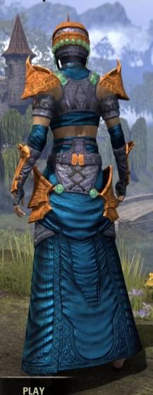 Sul Xan Homespun - Dyed Robe Rear
