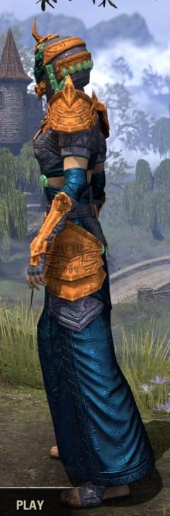 Sul Xan Homespun - Dyed Robe Side