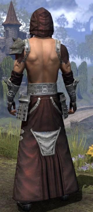 Crimson Oath Ancestor Silk - Male Robe Rear