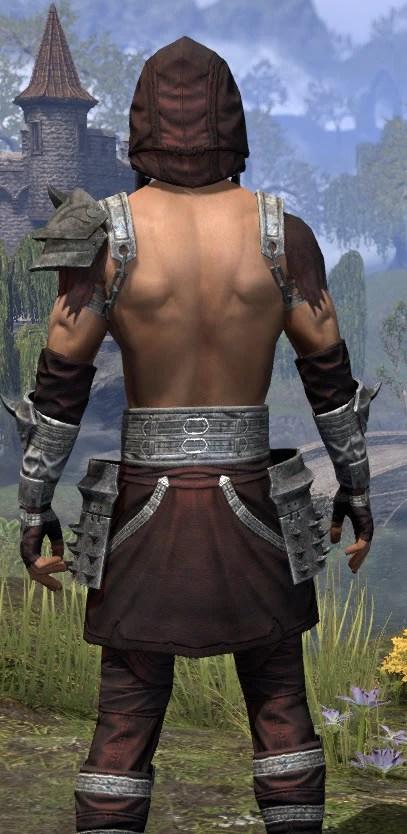 Crimson Oath Ancestor Silk - Male Shirt Close Rear
