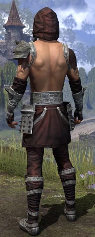 Crimson Oath Ancestor Silk - Male Shirt Rear