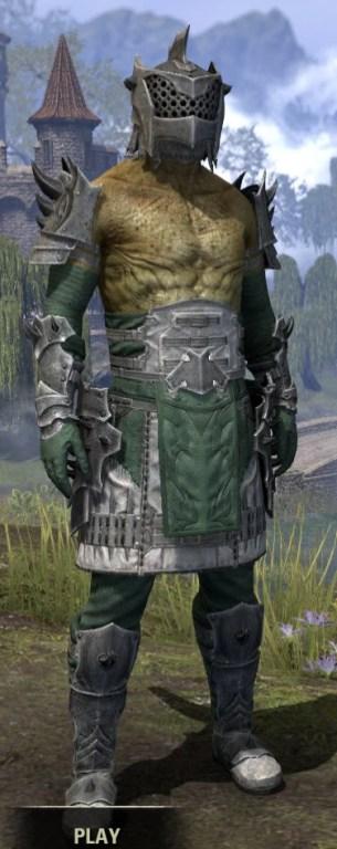 Crimson Oath Iron - Argonian Male Front
