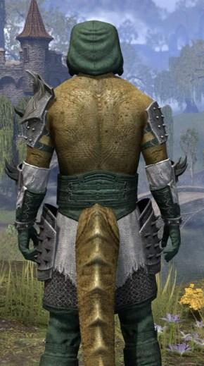Crimson Oath Rawhide - Argonian Male Close Rear
