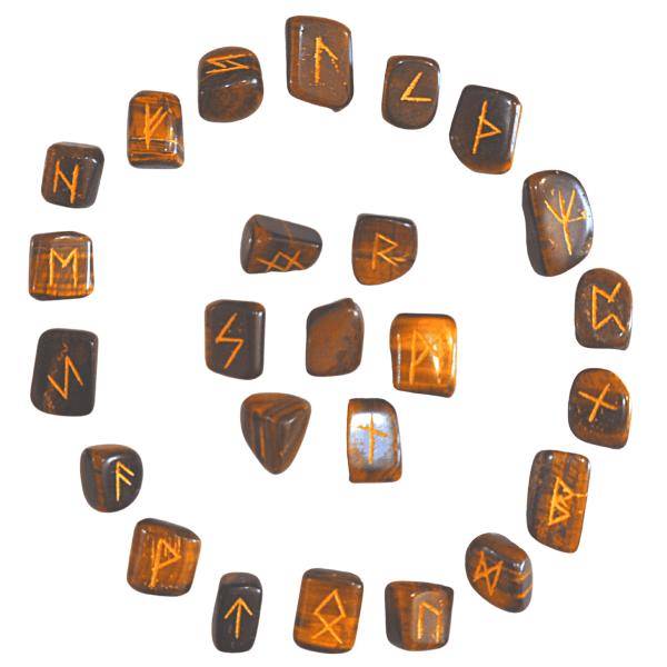Runes divinatoires œil de tigre