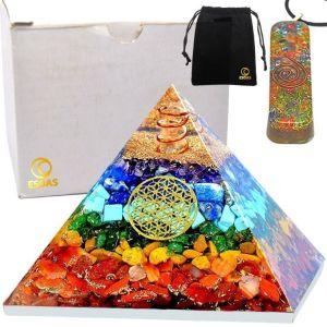 Pyramide Orgonite 7 Chakra Avec Pendentif