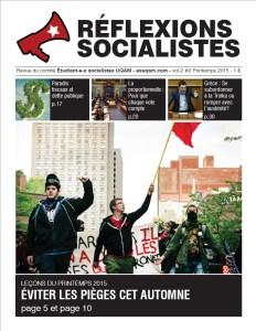 Réflexions socialistes, printemps 2015