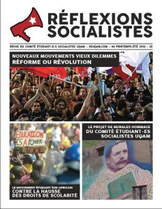 Réflexions socialistes, printemps-été 2016