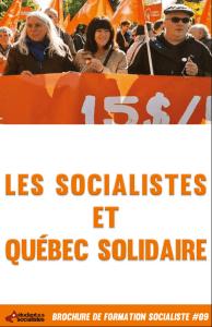 Les socialistes et Québec solidaire