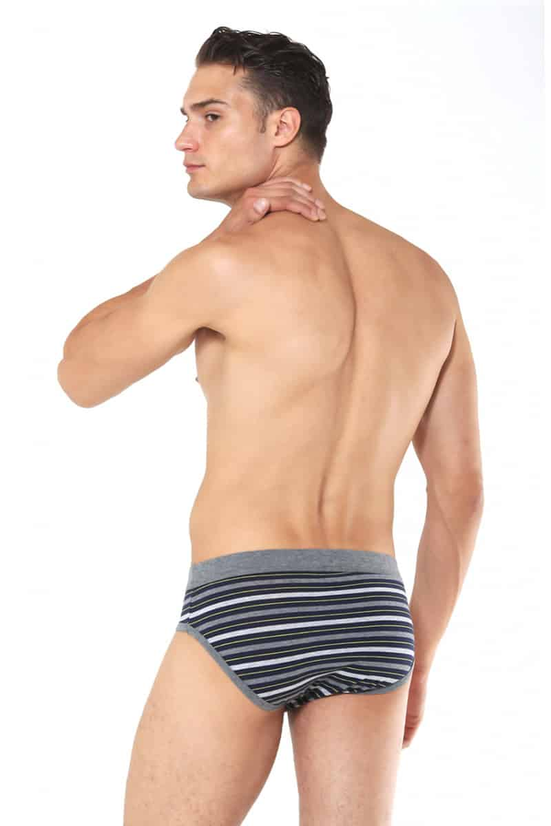 Men's Slip Adamo With Colored Stripes -