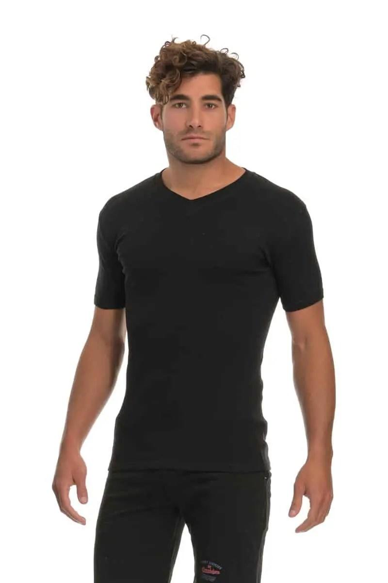T-shirt Short sleeve with V - esorama.gr