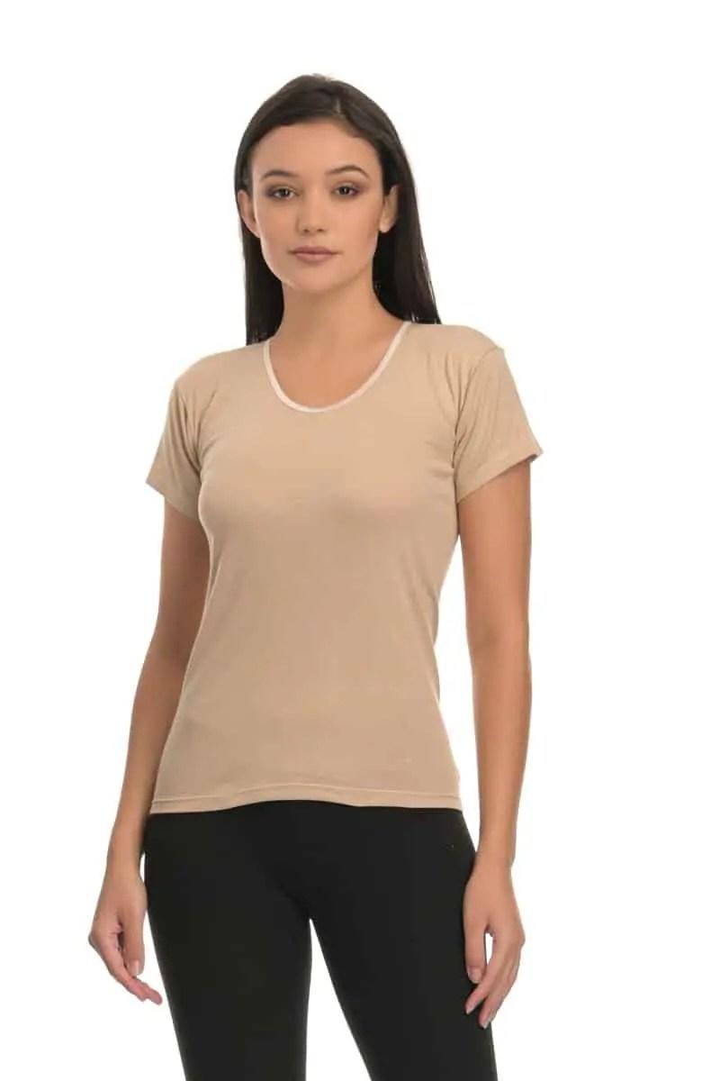 T-shirt Short Sleeve with Neckline - esorama.gr