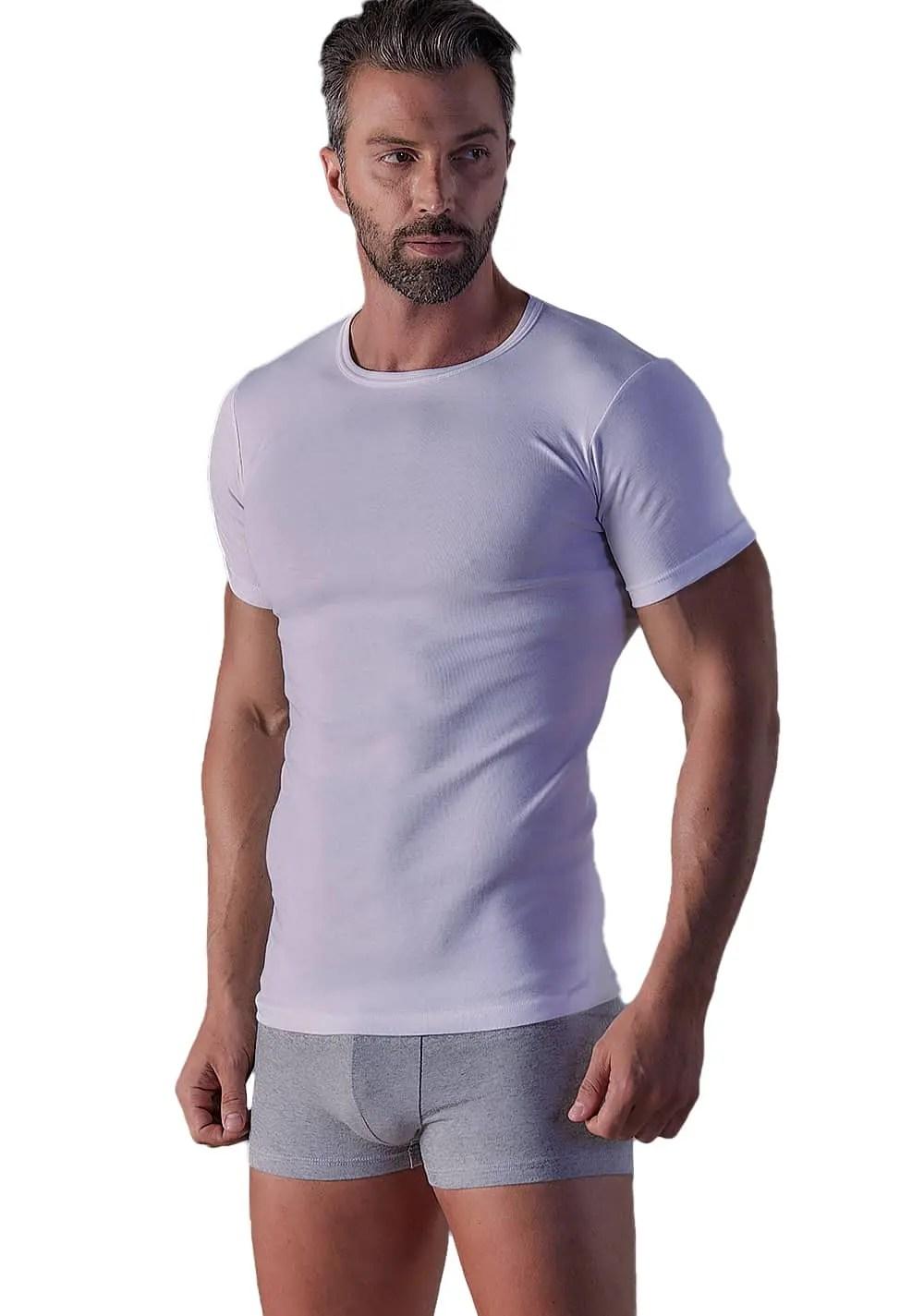 T-Shirt RIB Με Λαιμόκοψη Wrap 311004 (2 Pack) - My Wrap