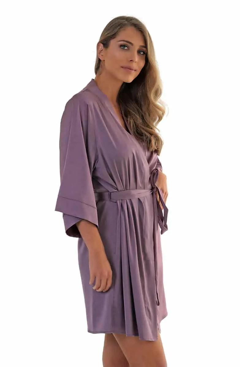 Maida Women's Satin Robe -