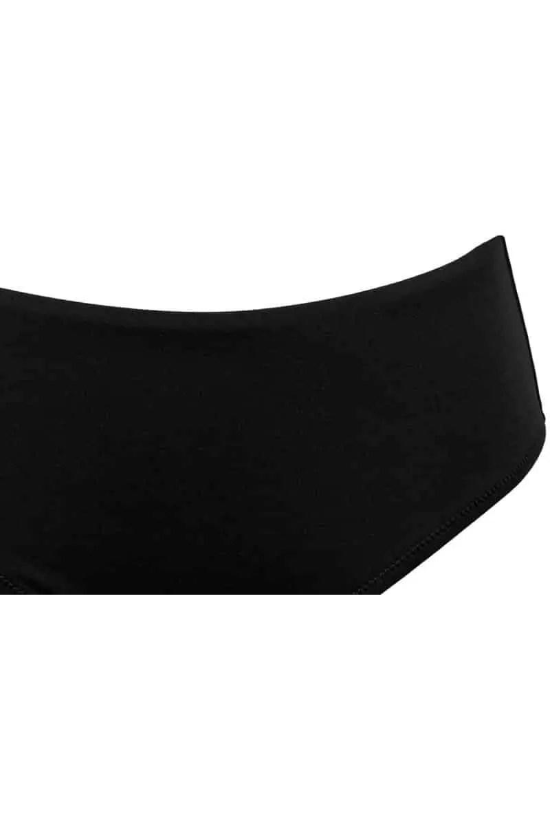 Γυναικείο Μαγιό Slip Sielei E19-PE68 Black Ψηλόμεσο - Sielei