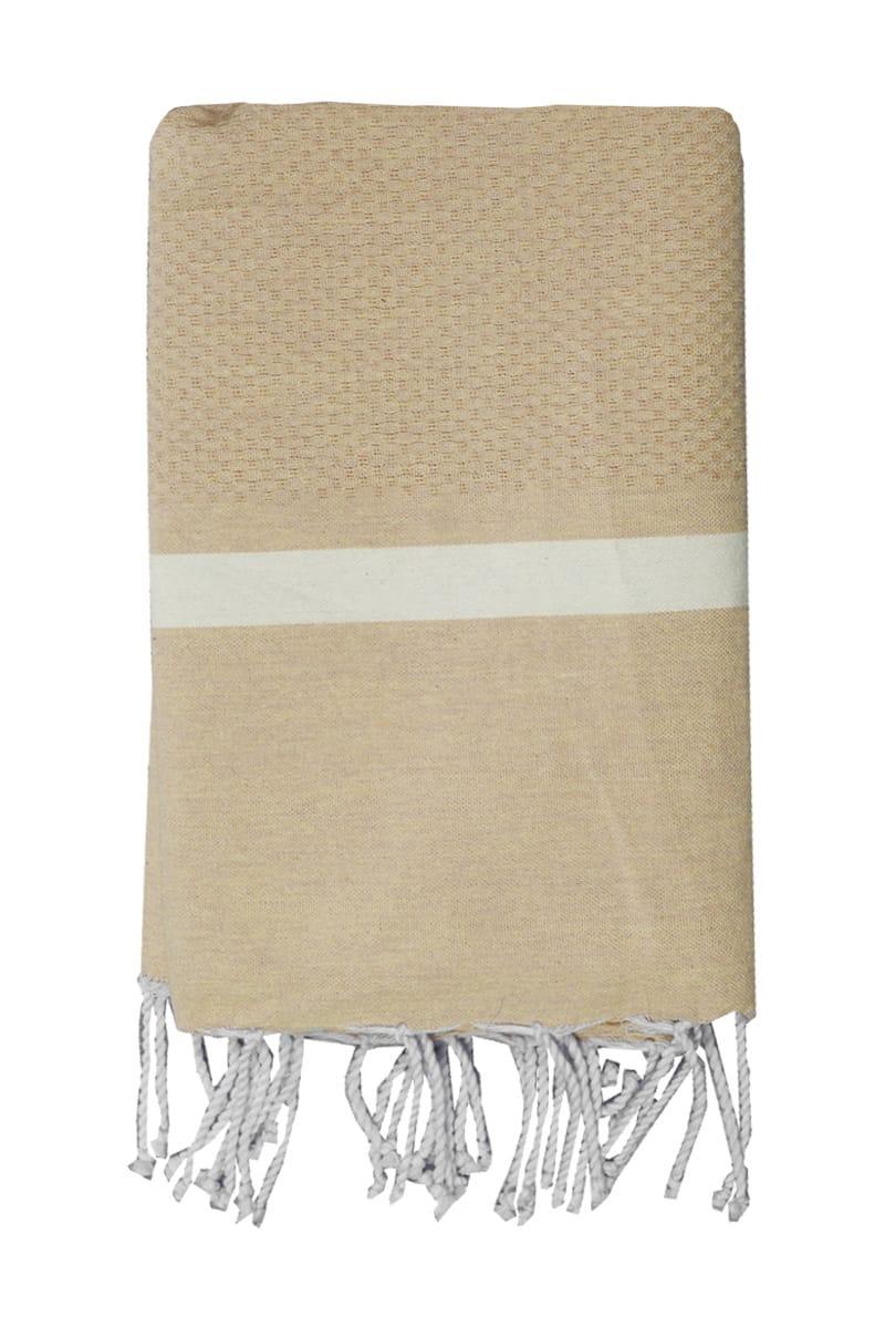Beach Towel - Hammam Mellissa 100x200cm Beige - Le Comptoir De La Plage