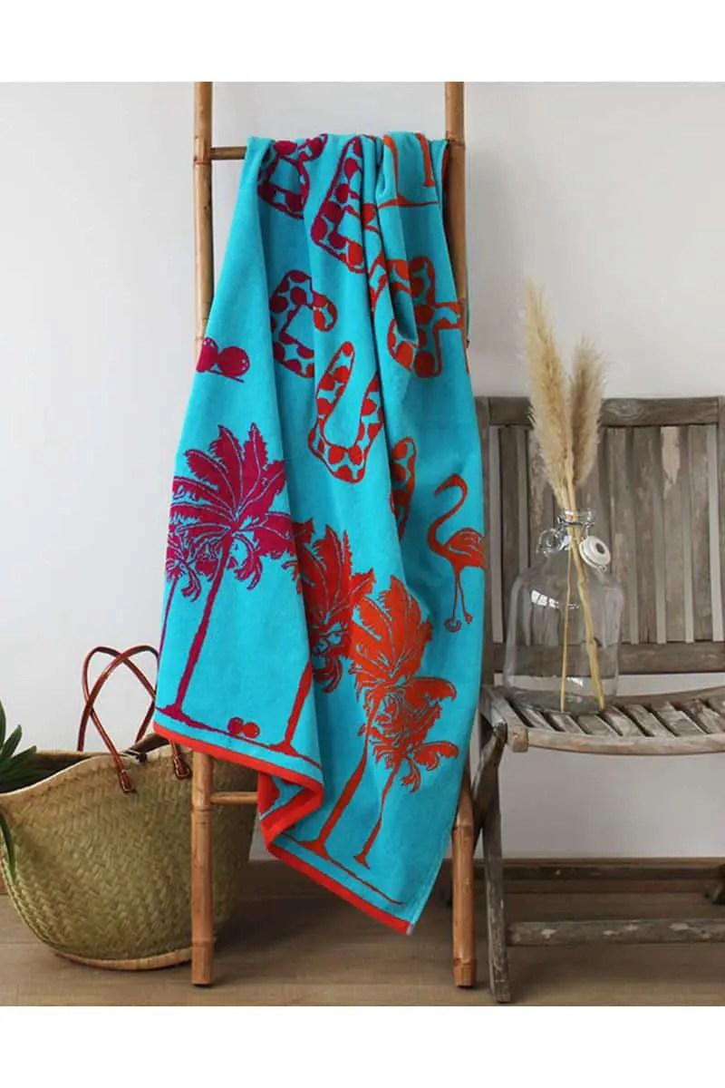 Beach Towel Fun Beach 100% Cotton 90x170cm - Le Comptoir De La Plage