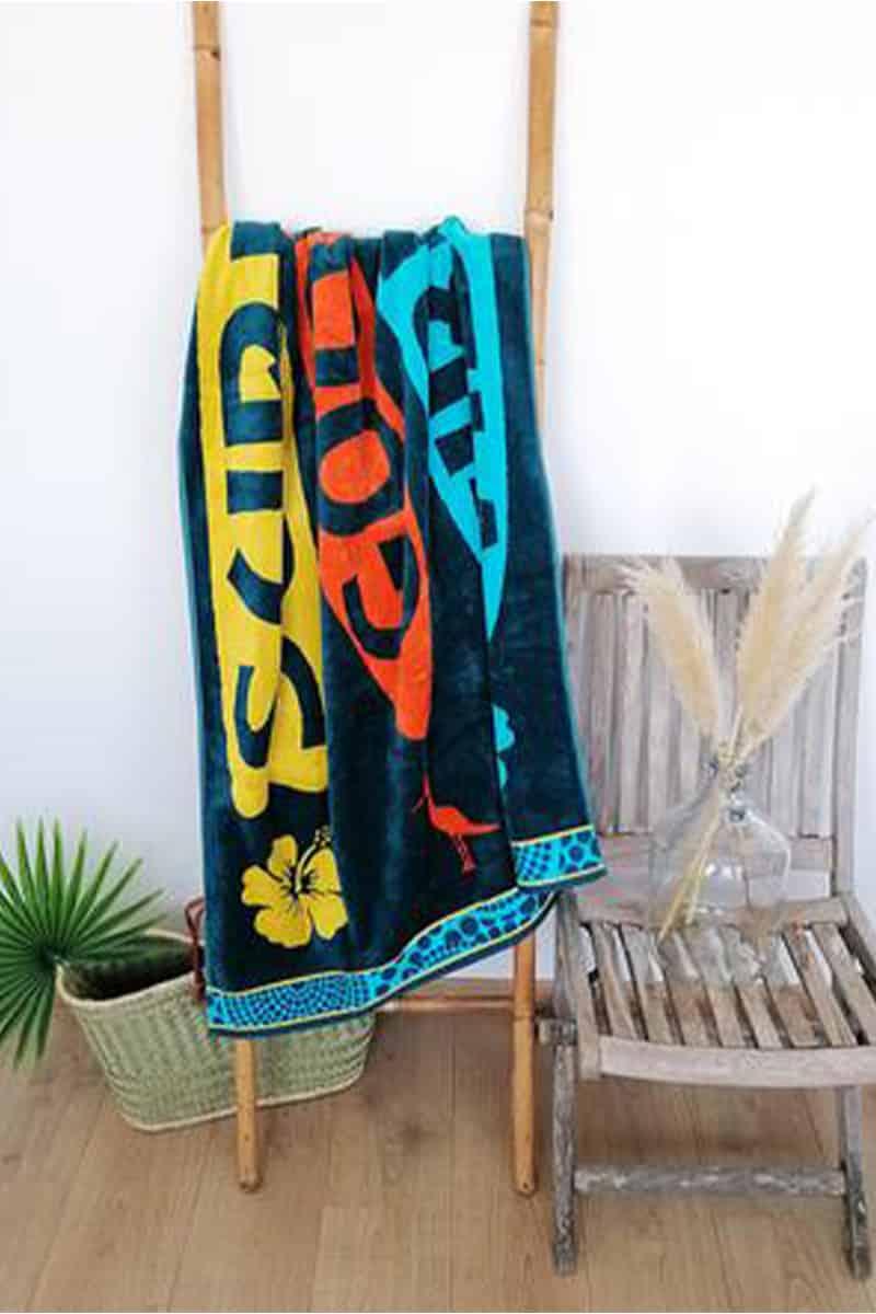 Beach Towel Sajuta 100x175cm 100% Cotton - Le Comptoir De La Plage