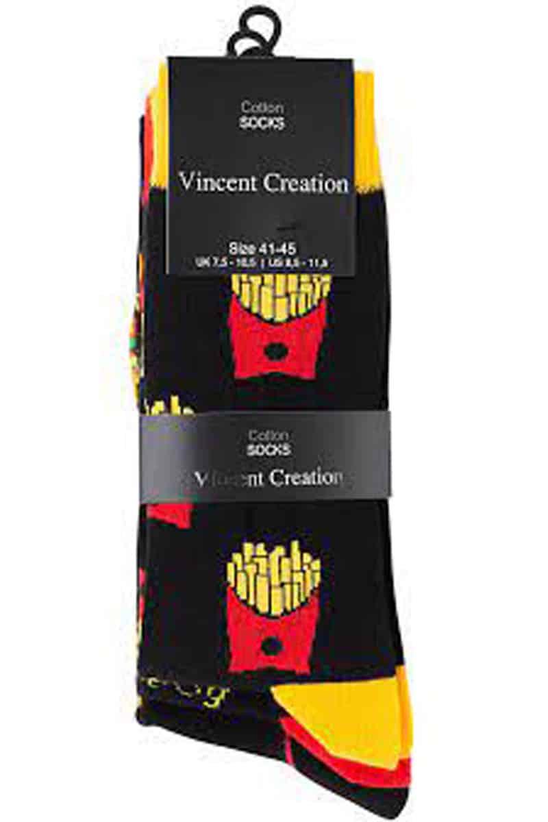 Ανδρικές Βαμβακερές Κάλτσες Fast Food (3 Pack) -