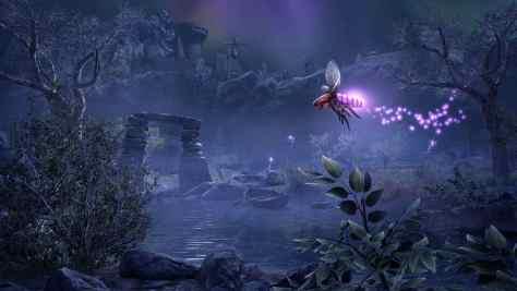 Aspecto de Purple Torchbug nueva mascota que será regalada durante el evento Dark Heart of Skyrim.