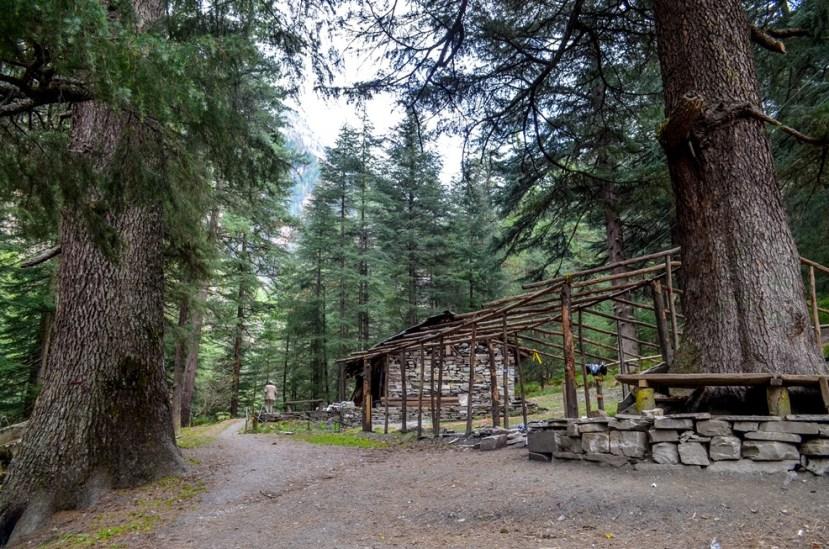 shepherds' hut beside the trail
