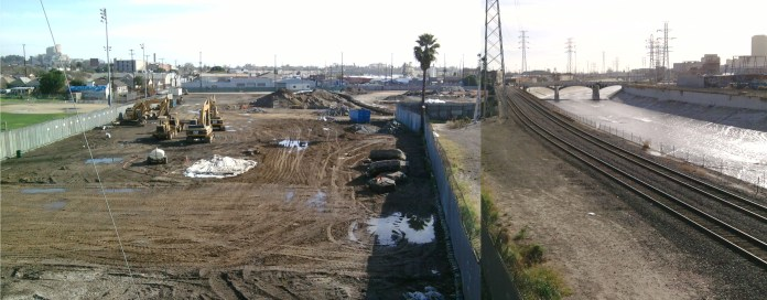The old dairy site just north of Lincoln Heights