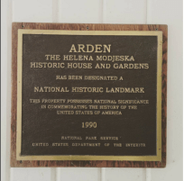 National Register plaque.