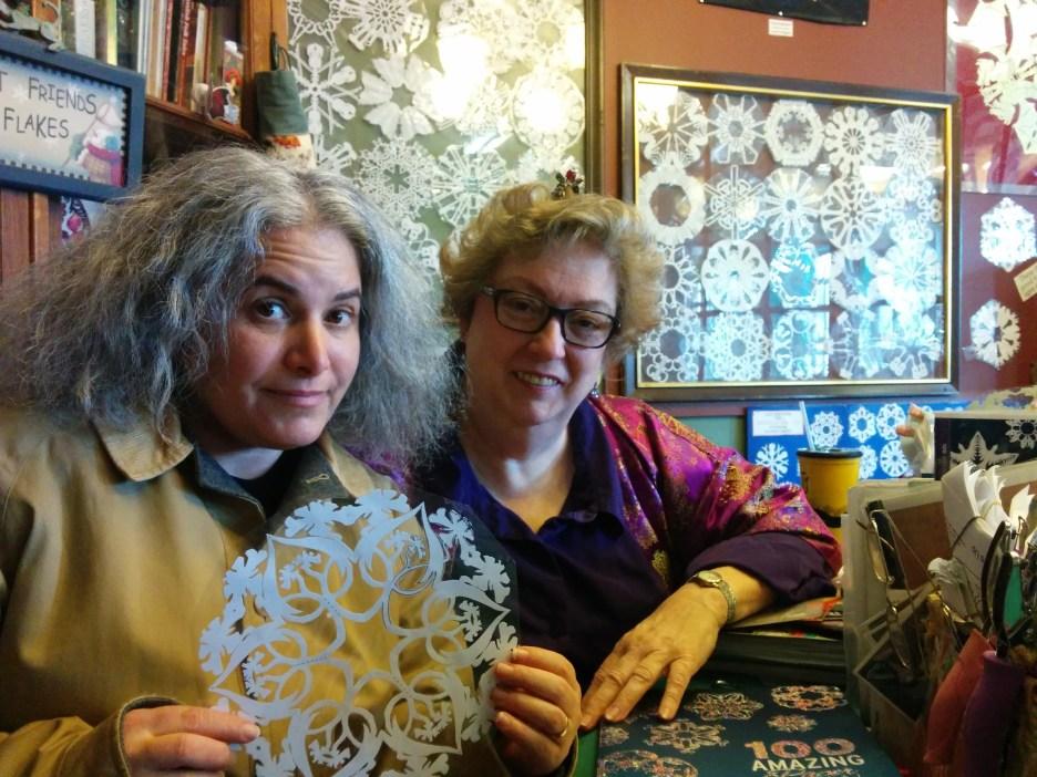 Kim Cooper with Marion Nichols