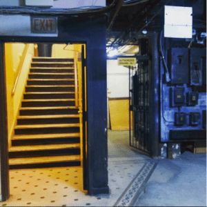 Barclay Hotel basement stairs