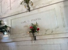 Oak Grove Cemetery mausoleum Stanza family tomb
